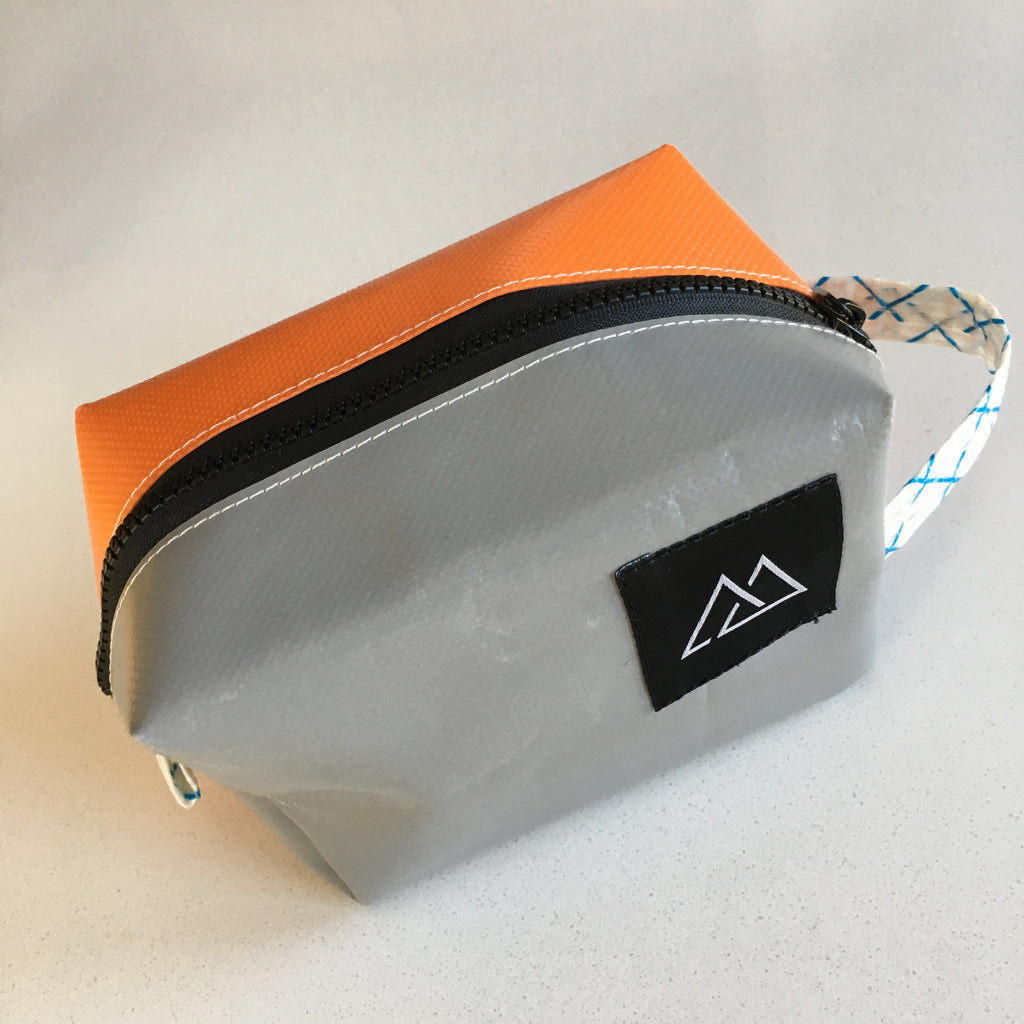 Metamorphic Quartz Small Upcycled Dopp Kit made in Seattle and available at www.explorelocaluniverse.com.