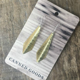 Gold Diamond Drop Fold Earrings