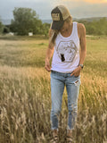 Bear With Me Women's organic cotton bamboo tank top for Local Universe