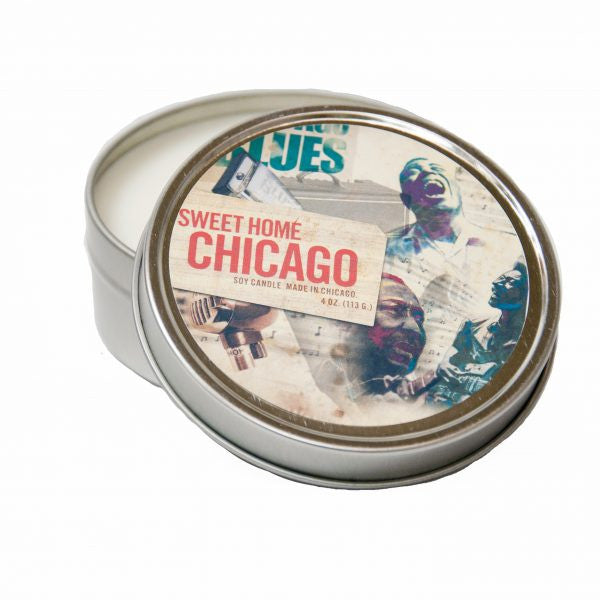 The Sweet Home Chicago Soy Candle. Read our Chicago travel blog and shop the collection of locally made, sustainably made goods at www.explorelocaluniverse.com.