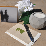 Handmade greeting cards, soy candles and bamboo photo blocks available at www.explorelocaluniverse.com.