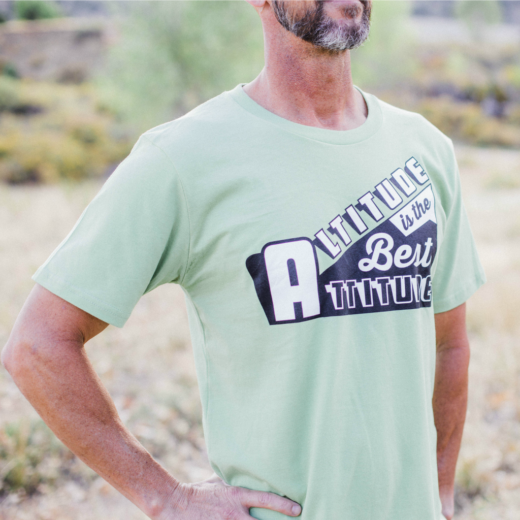 Altitude Is the Best Attitude Men's Organic Tee by David Ives