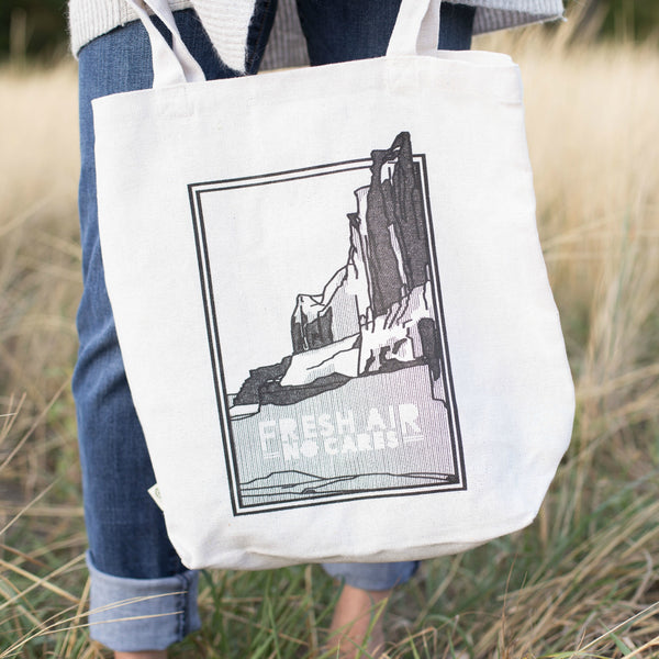 Fresh Air No Cares Recycled Cotton Tote Bag by Benjamin Keffer for Local Universe