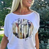 Free Hugs for Trees Women's Organic Cotton and Bamboo Shirt by Wendy Seebohar for Local Universe