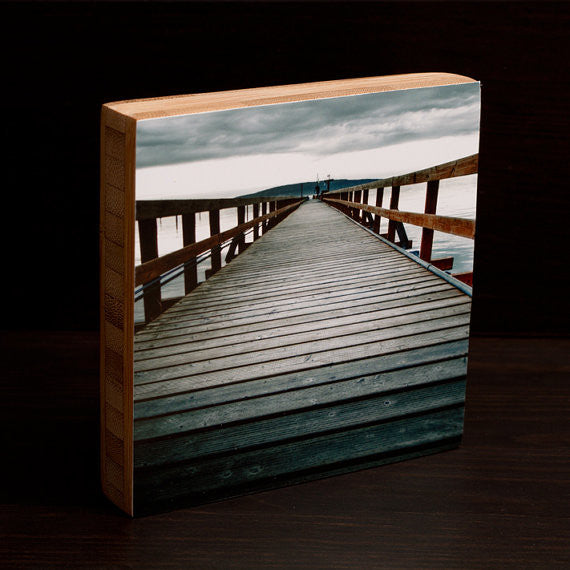 Orcas Island Boardwalk Bamboo Photo Block by Seattle photographer Travis Tyler available at www.explorelocaluniverse.com.