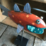 Bay Fish by Shelly Drews of Traverse City available from Local Universe. ExploreLocalUniverse.com