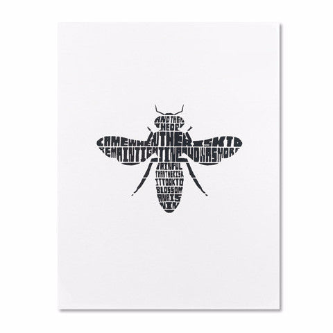 bee print by Wandering Press from Local Universe