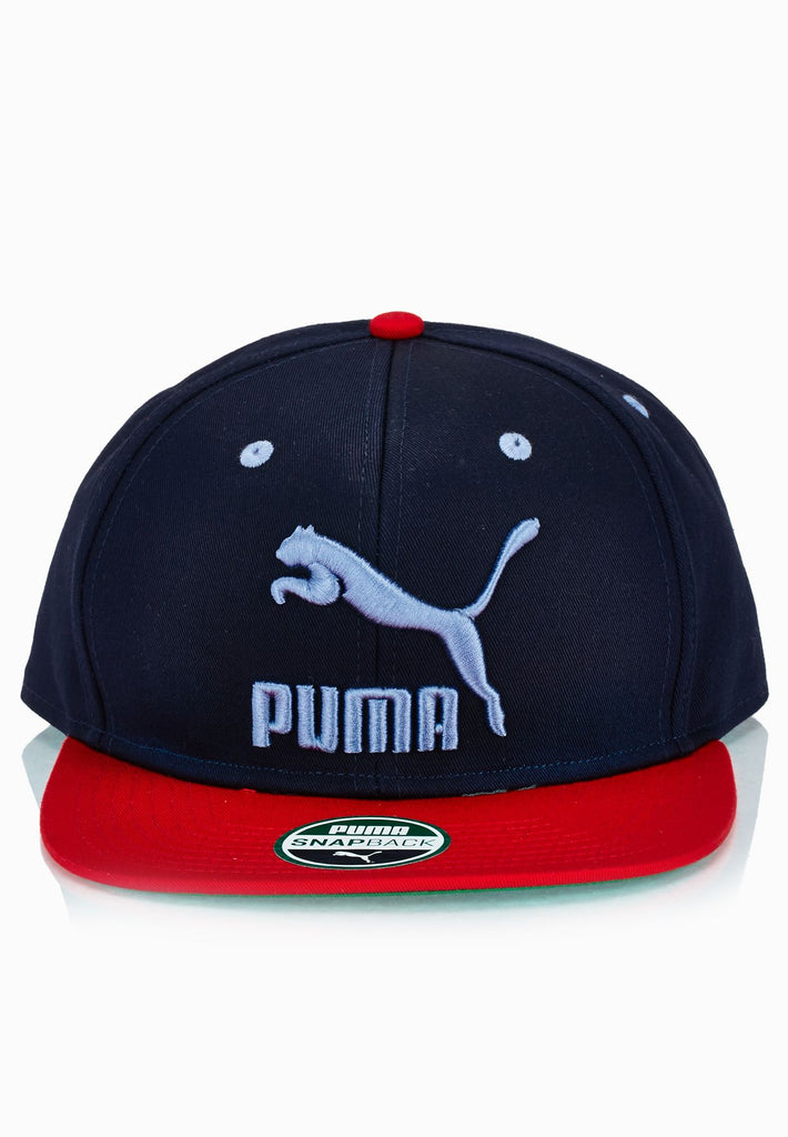 Puma Colour Block Snapback - Navy/ Cherry