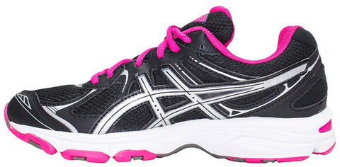 ... ASICS Gel Galaxy 6 GS - Black/Silver/Pink ...
