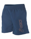 ASICS Youth Logo Short - Navy/Shock Orange
