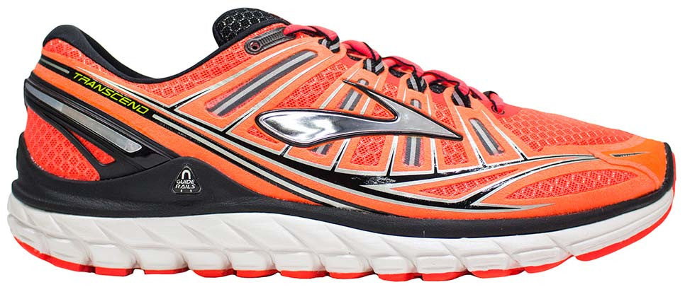 Brooks Transcend - Fiery Coral/Silver/Black