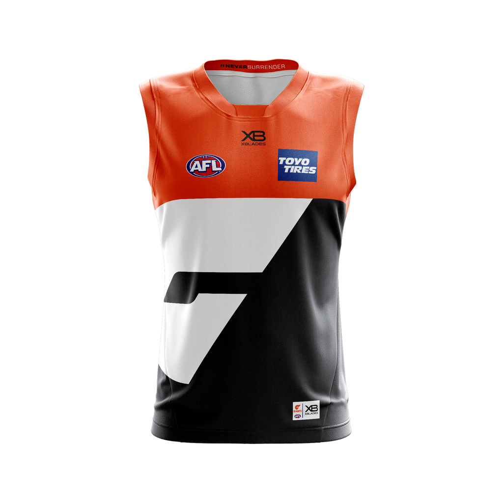 XBlades - Mens GWS Giants Replica Home Guernsey 20 - Orange/Gunmetal