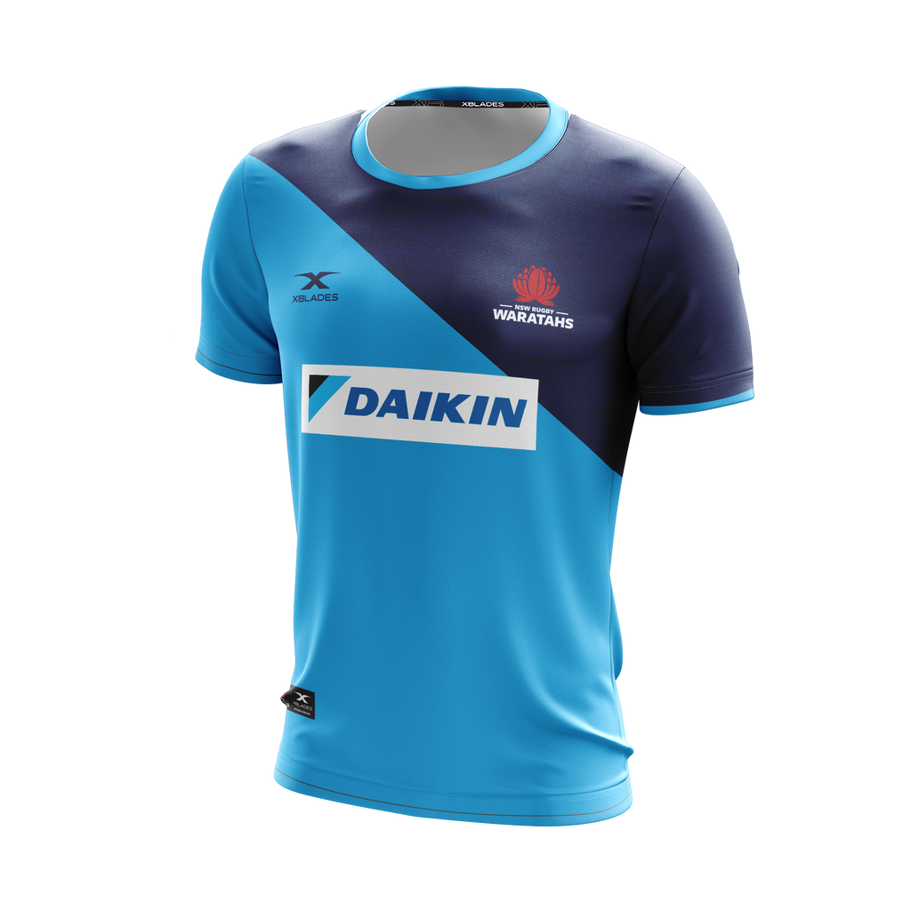 XBlades - Mens NSW Waratahs Training Tee 20 - Sky/Navy
