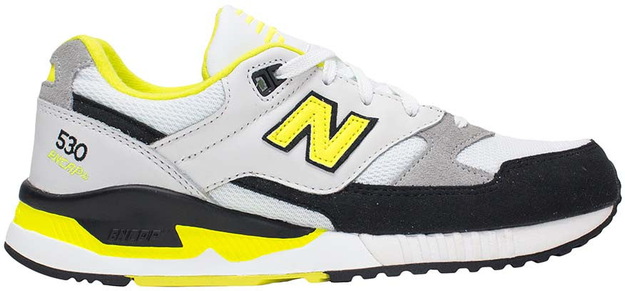 super popular 91e94 3b331 New Balance 530 - White/Black/Yellow