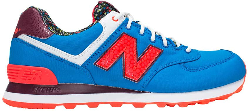 online retailer f2de7 9c501 New Balance 574 - Blue/Orange