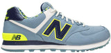 New Balance 574 - Ash Blue/Neon Yellow/Navy