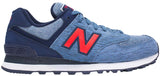 New Balance 574 - Blue Aster/Navy/Red