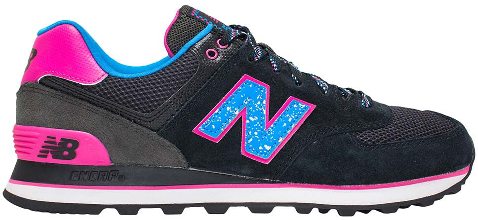 cheaper 1a64e 7c5db New Balance 574 - Black/Pink/Blue