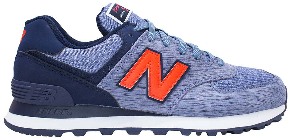 buy online a9282 a23ba New Balance 574 - Blue/Navy/Red