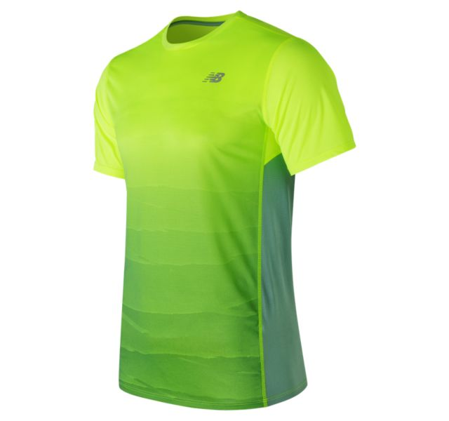 New Balance Accelerate Short Sleeve Graphic - Highlight