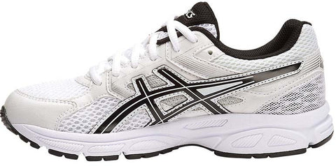 ... ASICS Gel Contend 3 GS - White/Black/Silver ...