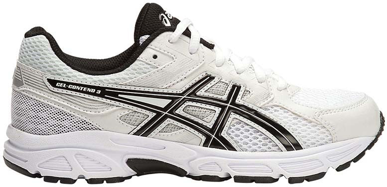 ASICS Gel Contend 3 GS - White/Black/Silver