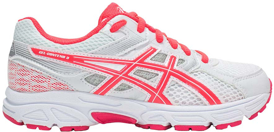 ASICS Gel Contend 3 GS - White/Diva Pink/Silver