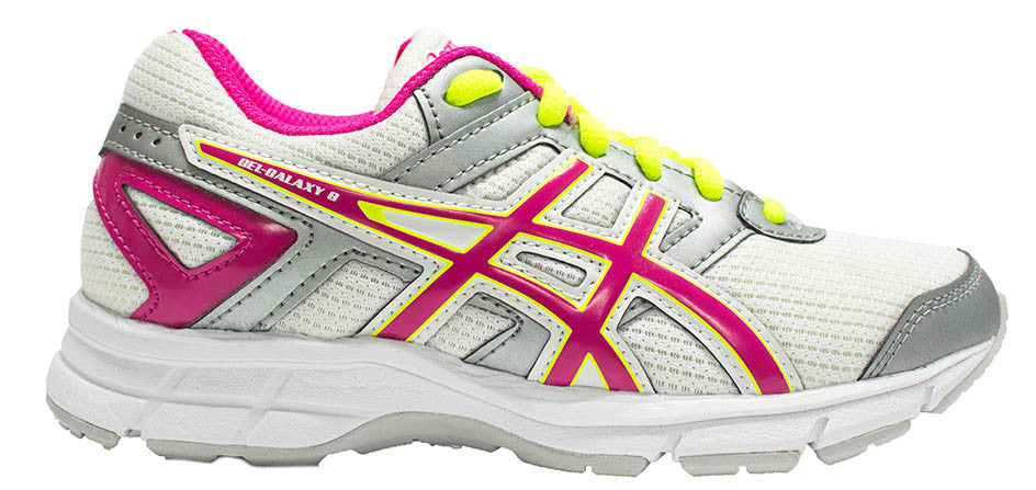 ASICS Gel Galaxy 8 GS - White/Hot Pink/Silver