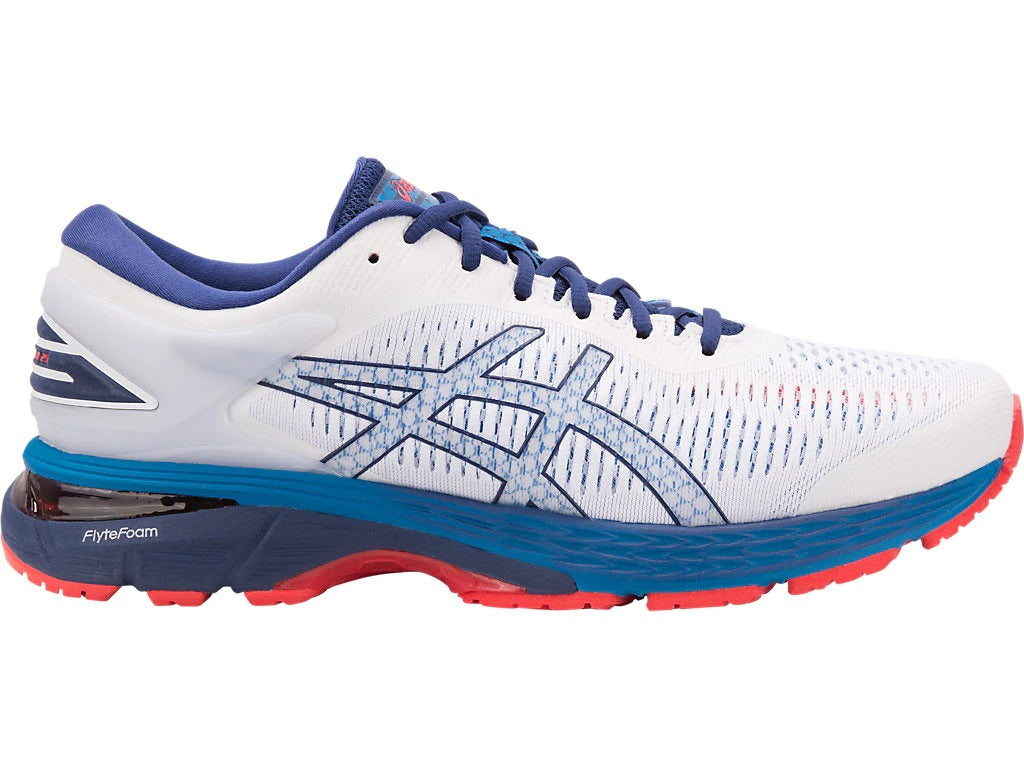 ASICS Gel Kayano 25 - White/Blue Print