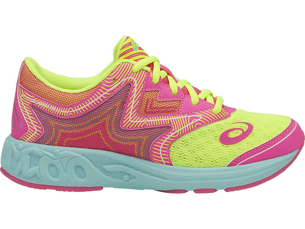 ASICS Gel Noosa GS - Safety Yellow/Hot Pink/Aqua Splash
