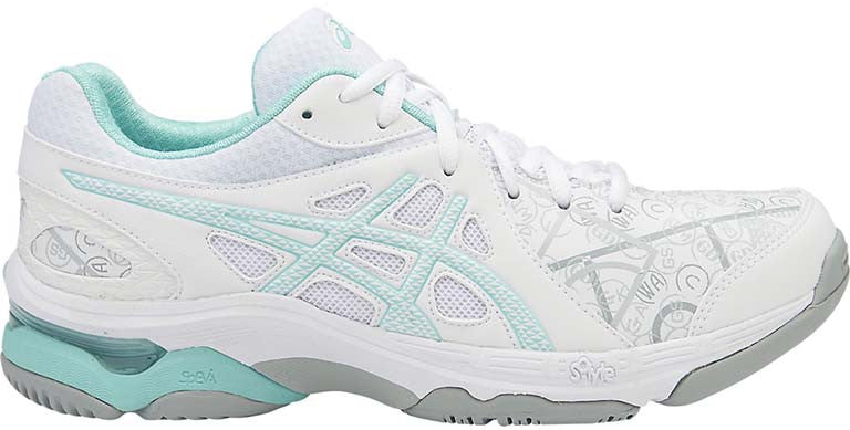 ASICS Gel Netburner Academy 7 - White/Snow/Aqua Splash
