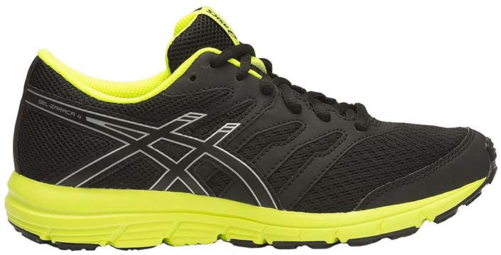 ASICS Zaraca 4 GS - Black/Silver/Flash Yellow