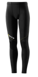 Skins A400 Youth Compression Long Tights - Black/Yellow