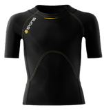 Skins A400 Youth Compression Short Sleeve Top - Black/Yellow