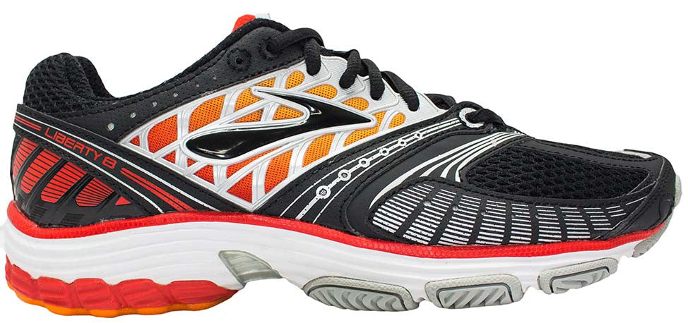 Brooks Liberty 8 - Black/Fiery Red/Orange Popsicle