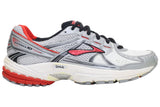 Brooks Maximus XT 10 Leather - White/Fiery Red/Silver