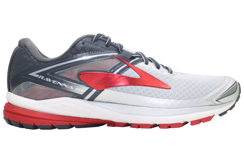 Brooks Ravenna 8 - Silver/Anthracite/High Risk Red