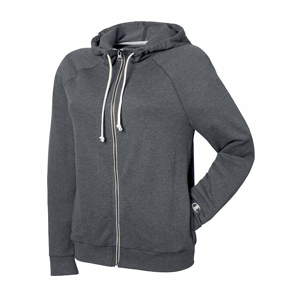 Champion French Terry Full Zip - Granite Heather