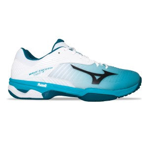 Mizuno - Wave Exceed Tour 3 AC - White/Peacock Blue