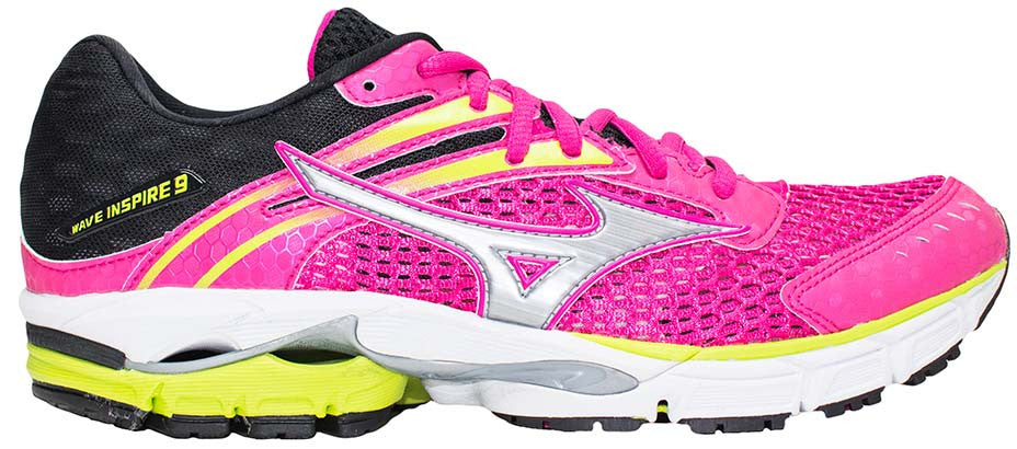 Mizuno Wave Inspire 9 - Pink/Black/Lime