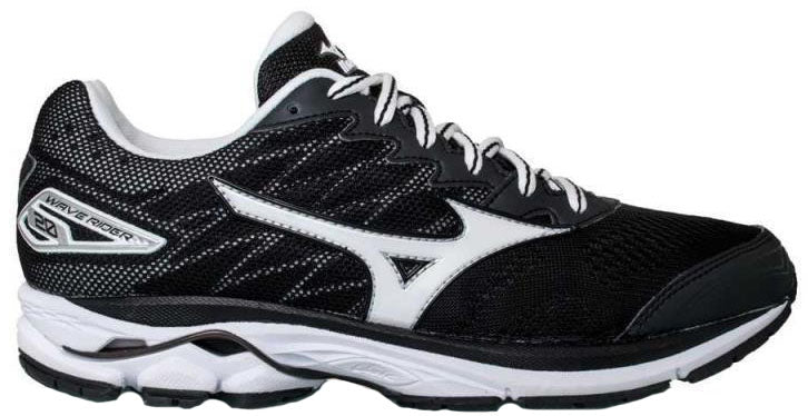 Mizuno Wave Rider 20 (Womens) - Black/White