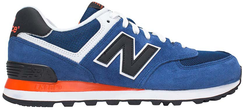 New Balance 574 - Blue/Black/Orange