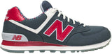New Balance 574 - Dark Grey/Red/White