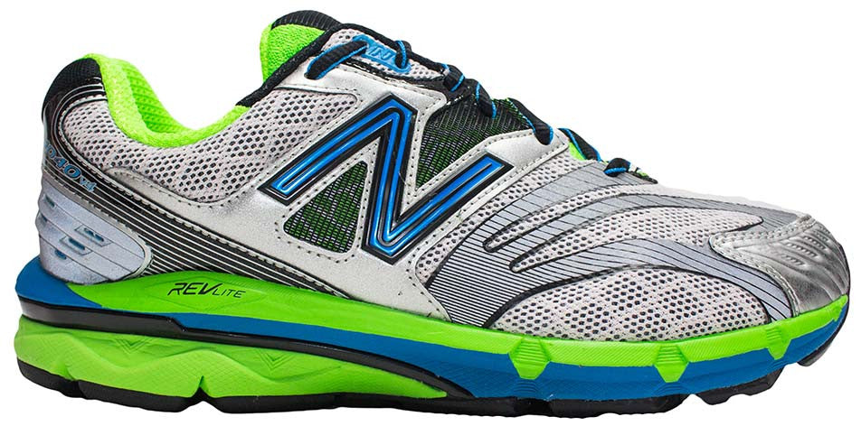 New Balance 1040v4 (6E) - Silver/Lime Green/Blue