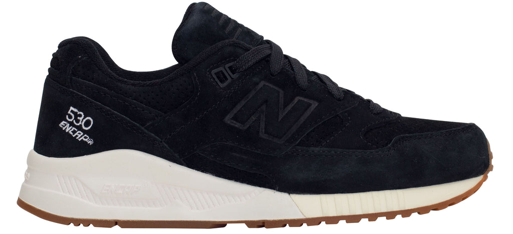 hot sales aedb9 d8f3a New Balance 530 Lux Suede - Black/Creme White