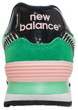 New Balance 574 - Green/Pink/Black