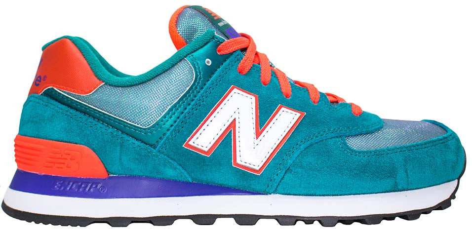 New Balance 574 Dark GreenOrange