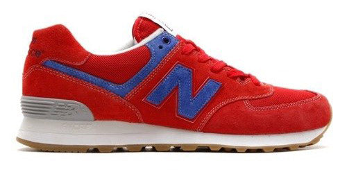 official photos bf9c4 46833 New Balance 574 - Red/Blue