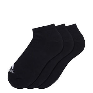 Adidas Thin Socks Performance No Show 3 Pack - Black
