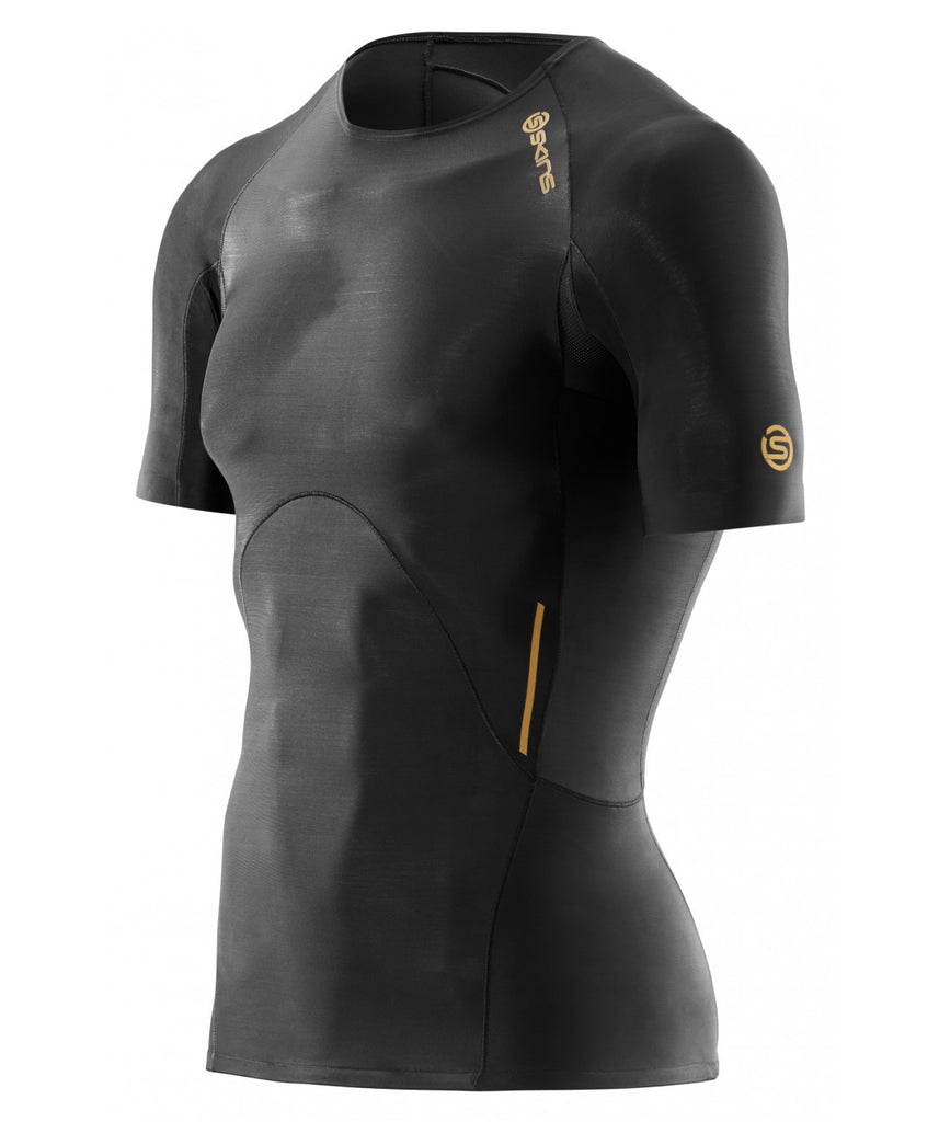 Skins A400 Men s Compression Top Short Sleeve - Black Gold – Just Sport 7ae3a1c96
